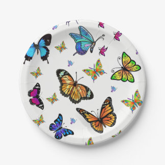Paper plates Butterfly