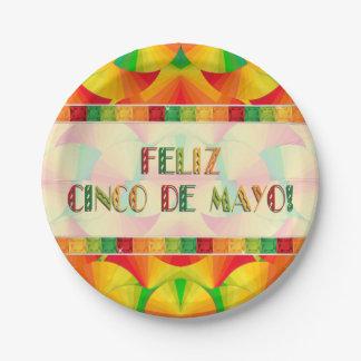 Paper Plates - Citrus Fans - Feliz Cinco de Mayo