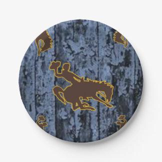 Paper plates Cowboys