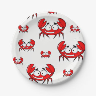 Paper plates Crabs