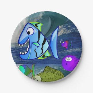 Paper plates Fish