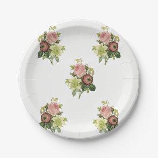 Paper plates Floral