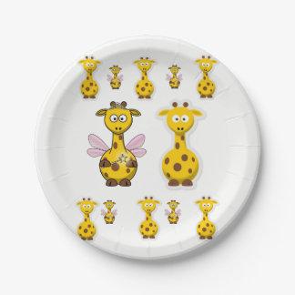 Paper plates Giraffe