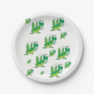 Paper plates Grasshopper