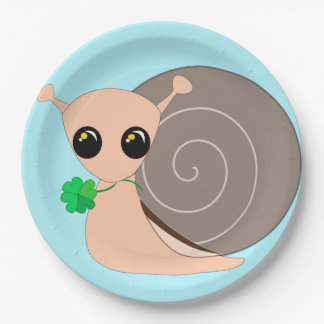 Paper Plates - lucky snail