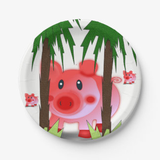 Paper plates Pig