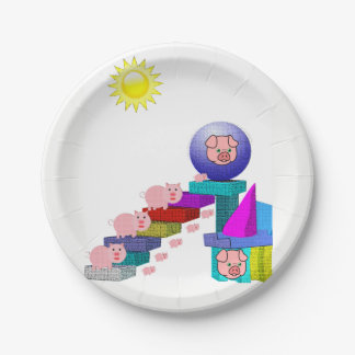 Paper plates Pigs