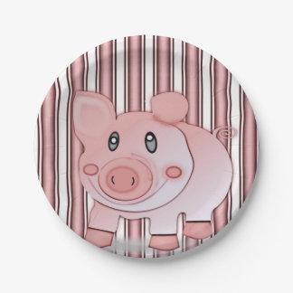 Paper plates Pigs