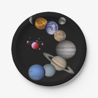 Paper plates Planets