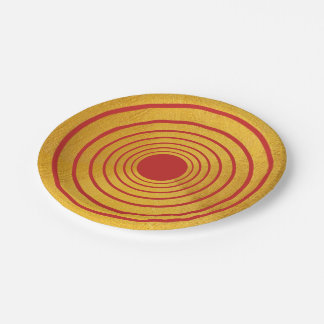 PAPER PLATES Red And Gold