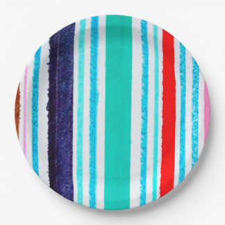 Paper plates, stripes, bold paper plate
