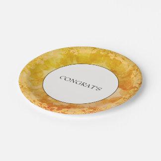 Paper-Plates-Sunshine-Congrats-Celebrations Paper Plate