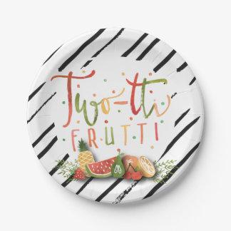 PAPER PLATES | Two-tti Frutti Fruit Birthday Party