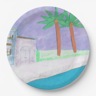 Paper Plates with a Caribbean Design 9 Inch Paper Plate