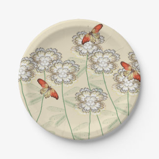 Paper Plates with Digital Floral Design