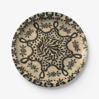 Paper Plates with Vintage Antique Pottery Image