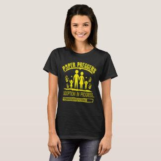 Paper Preggers Adoption Paper Pregnant T-Shirt