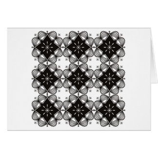 Paper product with Black mandala Card