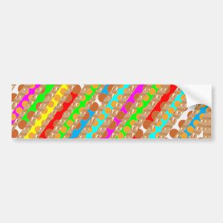 Paper Punch Strips PATCH ART by NAVIN Joshi Car Bumper Sticker