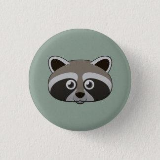 Paper Raccoon 3 Cm Round Badge