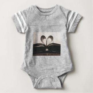 Paper Romance Symbol Valentine Love Book Day Old Baby Bodysuit