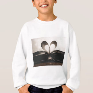 Paper Romance Symbol Valentine Love Book Day Old Sweatshirt