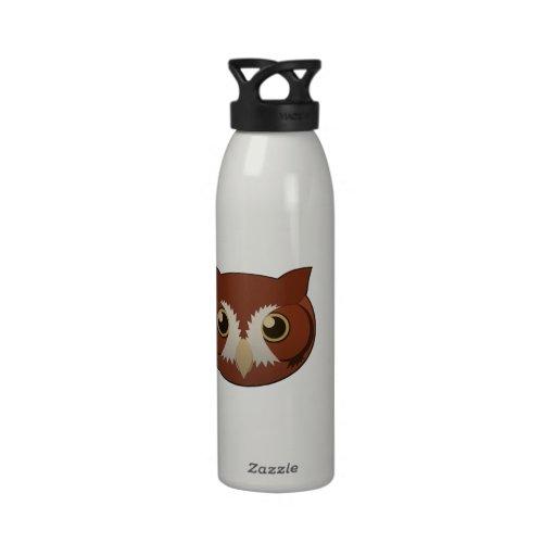 Paper Screech-Owl Reusable Water Bottle