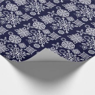 Paper Snowflakes (Dark Blue/White)