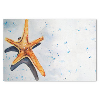 Paper soothes with watercolor of starfish