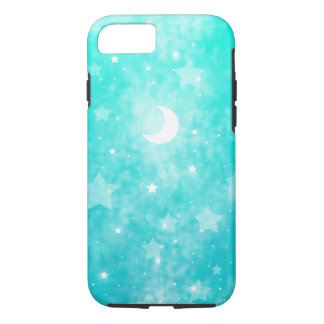 Paper Stars and Moon Fantasy Celestial Art iPhone 7 Case