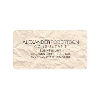 Paper Texture | Minimalist Modern Grey Tone Name Address Label