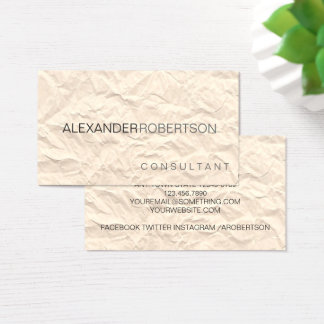 Paper Texture | Minimalist Modern Two Tone Name Business Card
