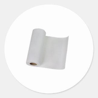 Paper towel round sticker