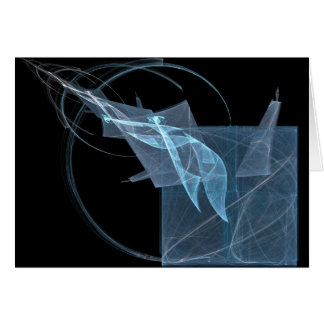 Paper Trail Abstract Art Greeting Card