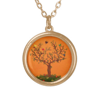 Paper Tree Birds Necklace