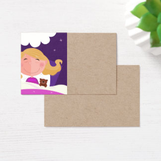 Paper visit card with Gold girl