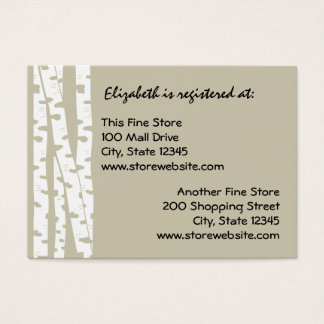 Paper White Birch Business Card