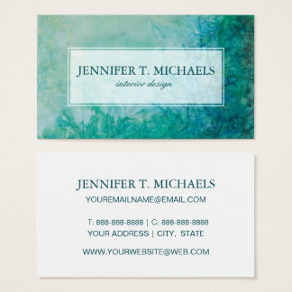 Paper With Blue, Green, And Black Paint Abstract Business Card