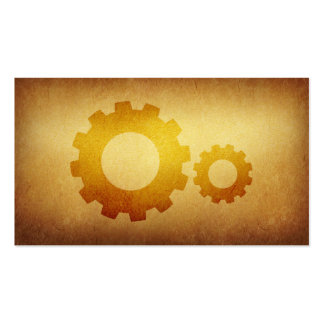 Papered Archive Mechanical Gears Business Card