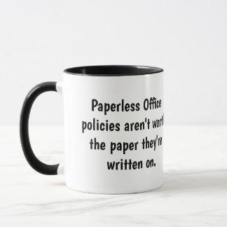 Paperless Office - Funny Office Mantra Joke Pun Mug