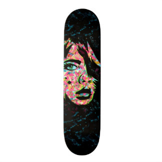 "PaperMonster ""He's Here"" Deck Custom Skate Board"