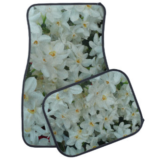 Paperwhite Narcissus Delicate White Flowers Car Mat
