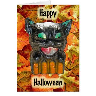 Papier Mache Halloween Cat Card