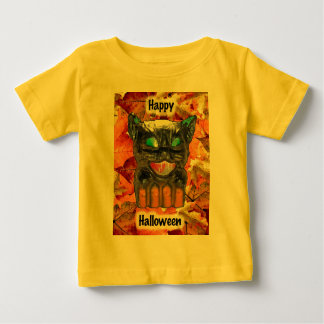 Papier Mache Halloween Cat Infant T-Shirt
