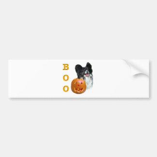 Papillon Boo Bumper Sticker