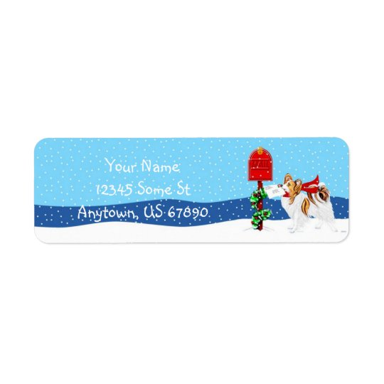 Papillon Christmas Mail Sable Colour Labels