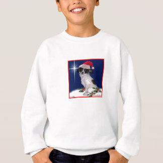 Papillon Christmas Sweatshirt for Kids