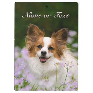Papillon Dog Cute Romantic Portrait - Personalized Clipboard