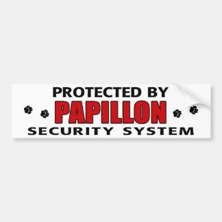 Papillon Dog Security Bumper Sticker
