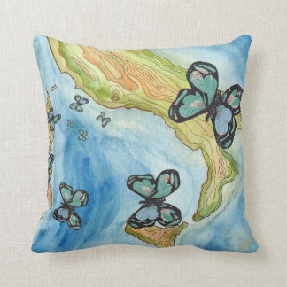 Papillon Goes to Rome Cushion